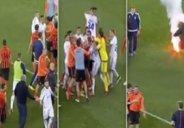 درگیری شدید بازیکنان در جریان بازی شاختار - دیناموکیف