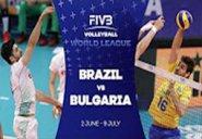 خلاصه والیبال برزیل 3-0 بلغارستان