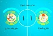 خلاصه فوتسال حفاری اهواز 1-1 شهروند ساری