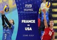 خلاصه والیبال فرانسه 3-2 آمریکا