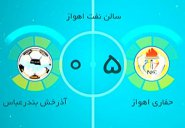 خلاصه فوتسال حفاری اهواز 5-0 آذرخش بندرعباس