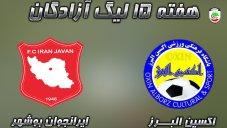خلاصه بازی اکسیــن البرز 3 -ایرانجوان بوشهر 2