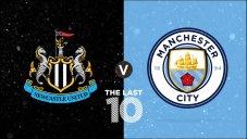 10 گل برتر منچسترسیتی به نیوکاسل در 10 بازی