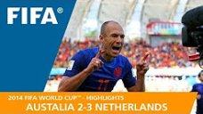 مرور جام جهانی 2014 - ( استرالیا 2 - هلند 3 )