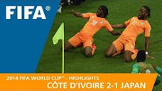 مرور جام جهانی 2014 - ( ساحل عاج 2 - ژاپن 1 )