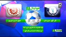 خلاصه بازی گل گهرسیرجان 5 -  شهرداری تبریز 2