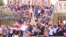 لحظه شادی فرانسوی ها از به ثمر رسیدن گلها در برابر استرالیا