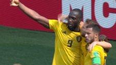 گل دوم بلژیک به تونس (لوکاکو)