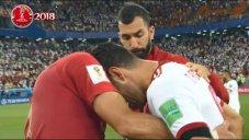 اشکهای بازیکنان ایران و دلداری بازیکنان پرتغال