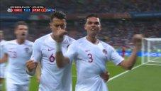 گل اول پرتغال به اروگوئه (په په)