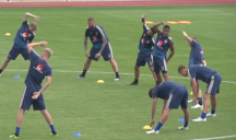 تمرین تیم سوئد برای بازی با سوئیس در مرحلهحذفی