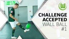 چالش روپایی زدن با دیوار بازیکنان وولفسبورگ