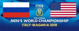 خلاصه والیبال آمریکا 3 - روسیه 1 (قهرمانی جهان)