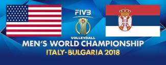 خلاصه والیبال صربستان 1 - آمریکا 3 (قهرمانی جهان-رده بندی)