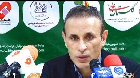 کنفرانس خبری بعد از بازی پدیده و فولاد خوزستان