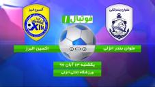 خلاصه بازی ملوان بندر انزلی 0 - اکسین البرز 0