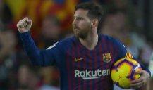گل سوم بارسلونا به بتیس (دبل - مسی)