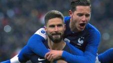 گل اول فرانسه به اروگوئه (پنالتی - ژیرو)