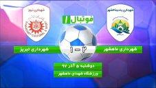 خلاصهبازی شهرداری ماهشهر 2 - شهرداری تبریز 1