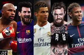 ثروتمندترین ورزشکاران جهان در سال 2018