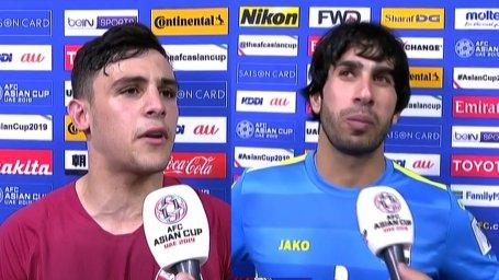 صحبتهای بازیکنان قطر و عراق پس از بازی