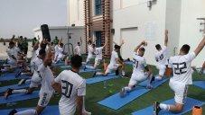 تمرین صبحگاهی تیم ملی در هتل برگزار شد(عکس)