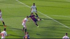 شوت فوق العاده مسی؛ گل اول بارسلونا به سویا