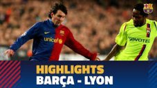 دیدار خاطرهانگیز بارسلونا 5 - لیون 2 (09-2008)