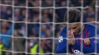 گل دوم بارسلونا به لیون توسط کوتینیو