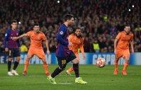 گل اول بارسلونا به لیون (مسی-پنالتیچیپ)