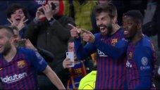 گل چهارم بارسلونا به لیون توسط پیکه