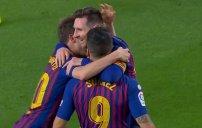 گل دوم بارسلونا به بتیس (لیونل مسی)