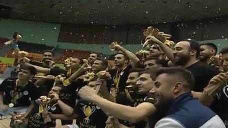 مراسم اهدای جامقهرمانی لیگ برتر والیبال 97 به شهرداری ورامین