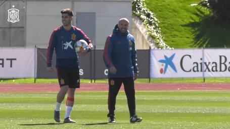 تمرین امروز تیم ملی اسپانیا (29-12-97)