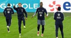 آخرین تمرین تیم ملی فرانسه قبل از بازی با مولداوی