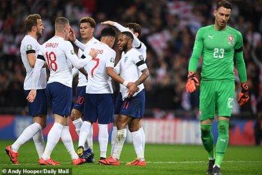 انگلیس 5 - 0 چک؛ قدرت نمایی سه شیرها