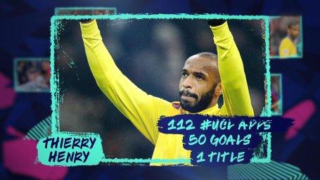 تیری آنری ؛ ستاره ای با 112 بازی در لیگ قهرمانان اروپا