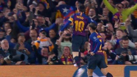 گل اول بارسلونا به منچستریونایتد ( لیونل مسی)