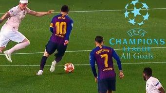 تمام گلهای مرحله یک چهارم لیگ قهرمانان اروپا 2019