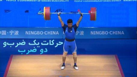 کسب مدال نقره مجموع توسط ایوب موسوی در وزنه برداری آسیا