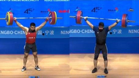4 مدال حاصل تلاش علی میری و مسعود چترایی در وزنه برداری آسیا