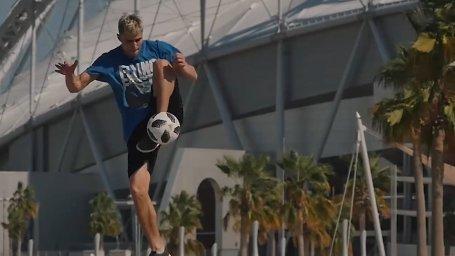 هنرنمایی های اسکیت ، دوچرخه سواری و فوتبال در کشور قطر