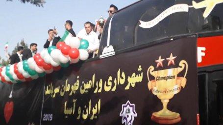 جشن بزرگ قهرمانی تیم شهرداری ورامین