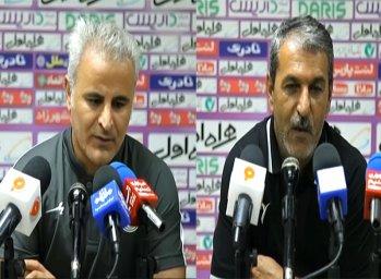 کنفرانس خبری پس از بازی نفت مسجد سلیمان - ذوب آهن