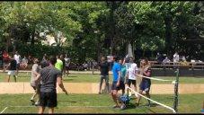 بازیکنان استقلال بعد از پایان لیگ در جام تنیس فوتبال