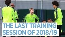 آخرین تمرین منچسترسیتی در فصل 19-2018