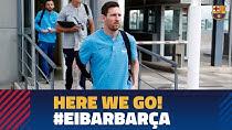 هواپیمای تیم بارسلونا به ایبار نشست