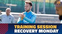 تمرینات بارسلونا برای ریکاوری بازیکنان