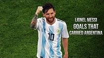 9 گل باورنکردنی لیونل مسی در  لباس تیم ملی آرژانتین