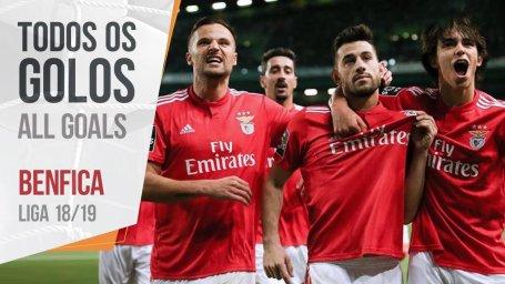 تمام گل های بنفیکا در فصل 19-2018 لیگ پرتغال